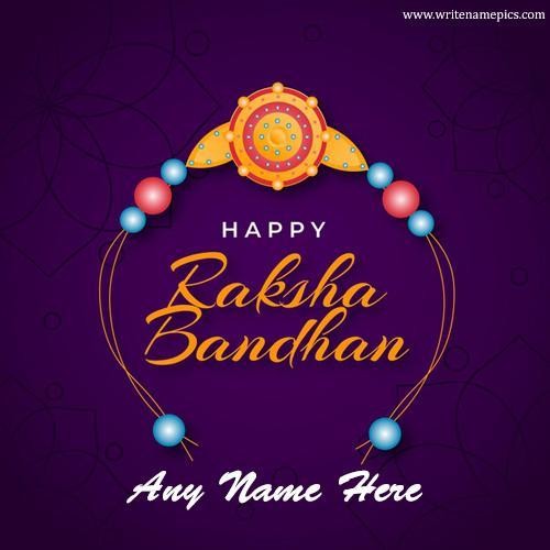 happy raksha bandhan 2021 card with name