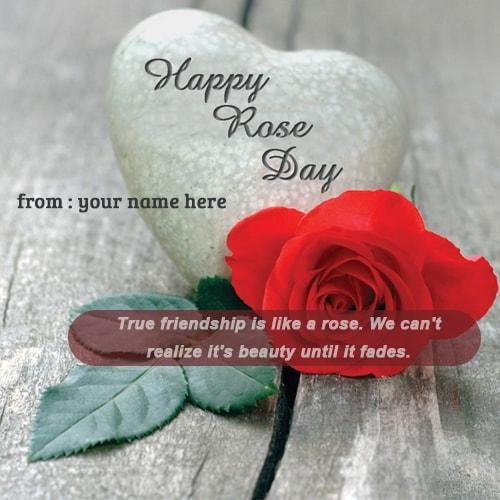 happy rose day quotes images name editor