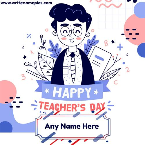 happy teachers day 2020 greeting card with name free