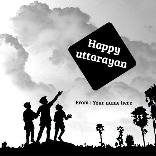 happy uttarayan wishes name picture