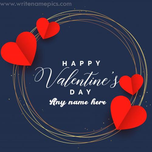 happy valentine day 2020 card with name