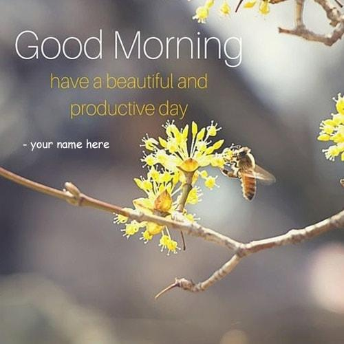 have a beautiful and productive day quotes name pics