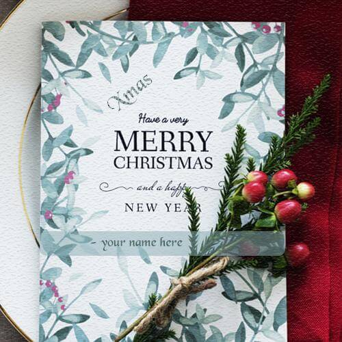 have a very merry christmas wishing card with name