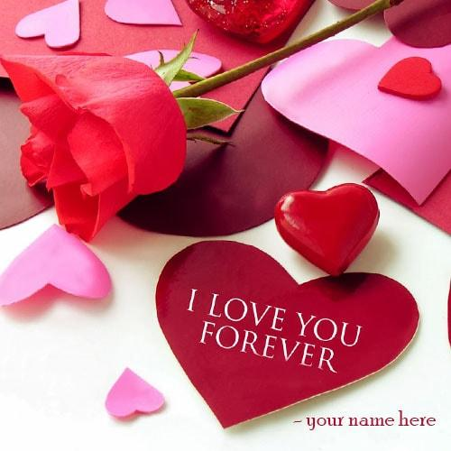 Write Name I Love You Greeting Cards Images