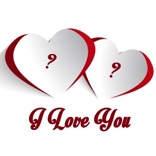i love you greeting card with alphabet