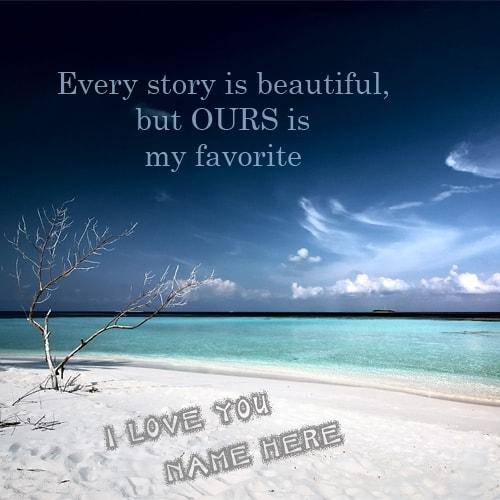 i love you with name beautiful beach sand write pictures