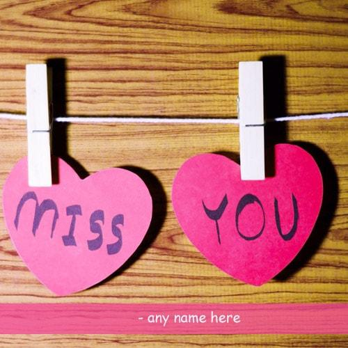 i miss you cute heart pictures with name