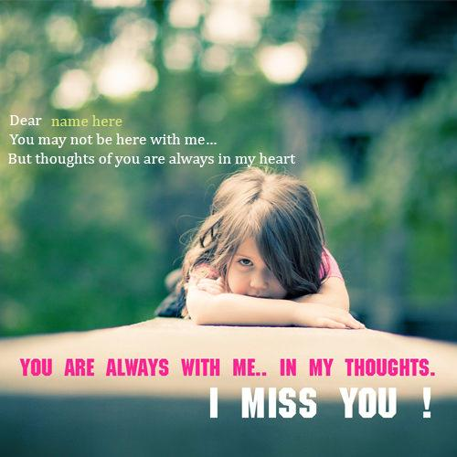 i miss you quotes images with name editor