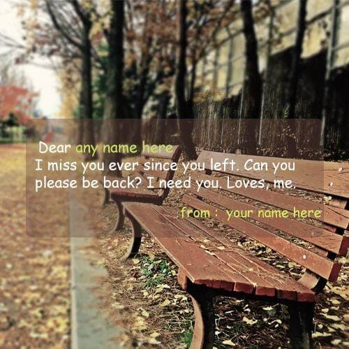 i miss you since you left quote name picture
