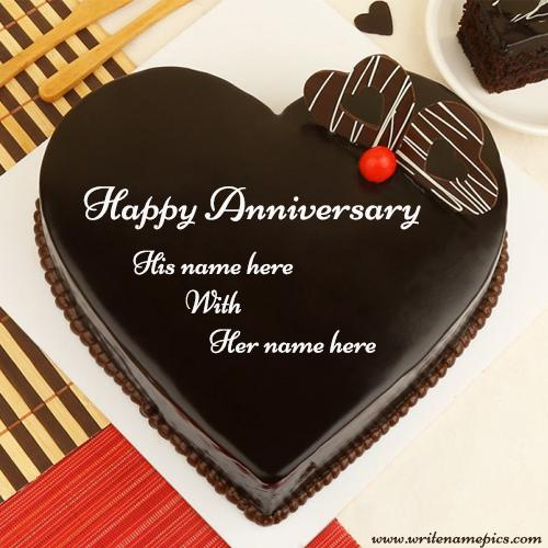 love anniversary cake with name edit