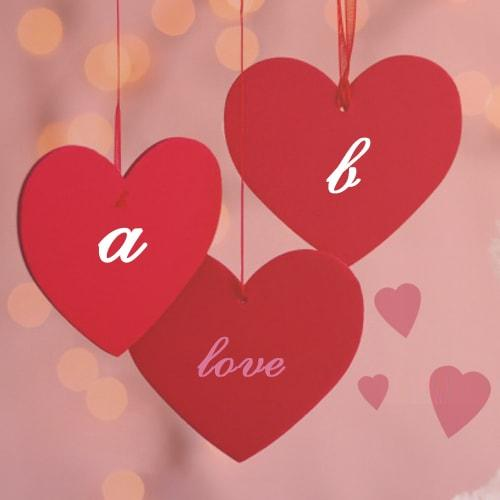 love couple alphabet name heart pictures