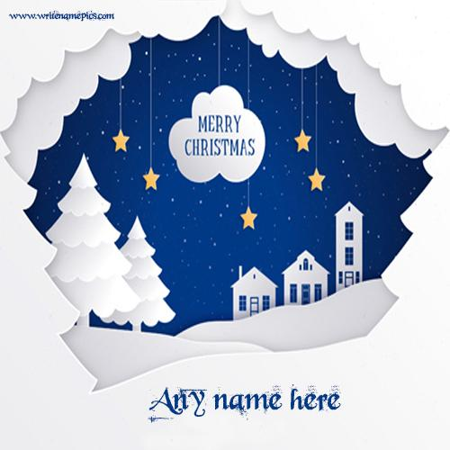 merry Christmas card with Name Pic