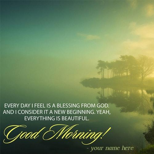 name on good morning wishes quotes images