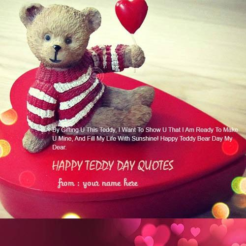 name on happy teddy bear heart pictures