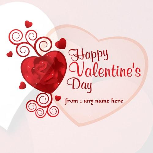valentine day wishes quote greeting card image name edit – Valentines Day Online Card