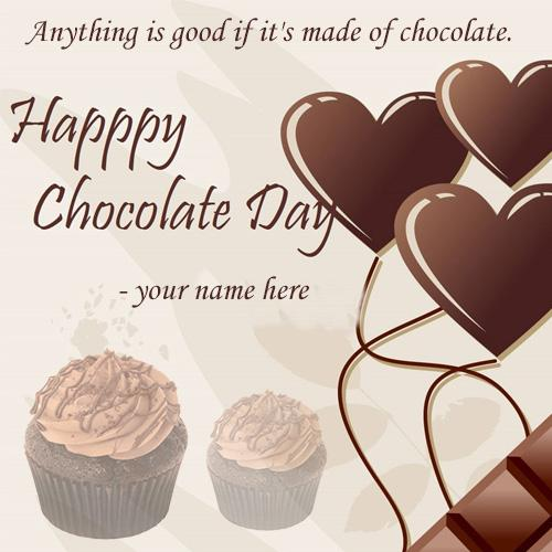 online wishe happy chocolate day with your name pic