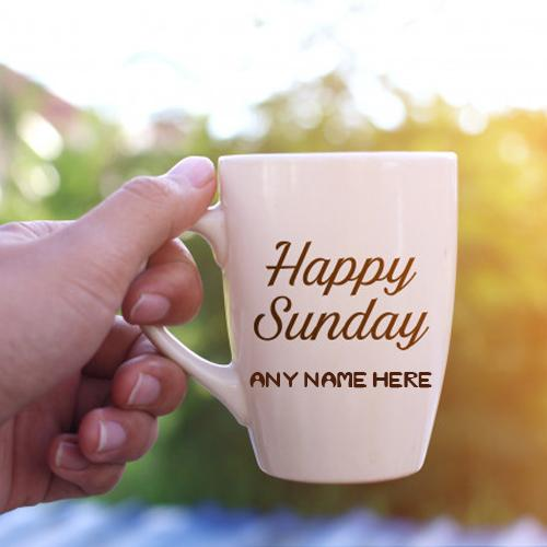online wishes sunday morning greetings images with name