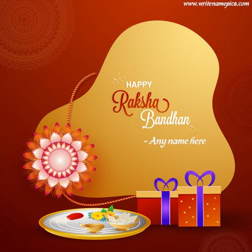 raksha bandhan greeting cards with name