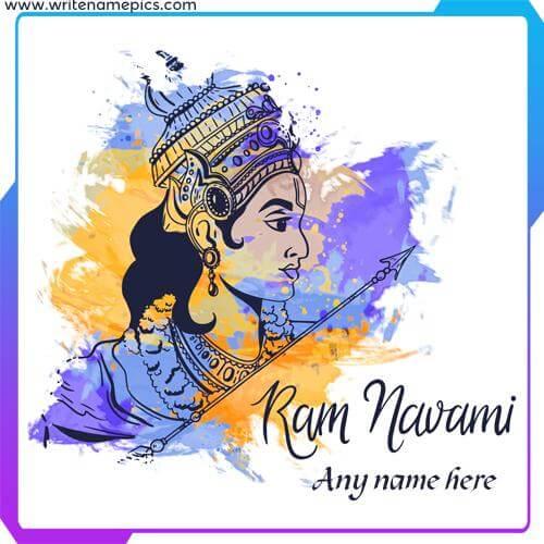 ram navami greeting card with name edit