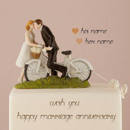 romantic couple anniversary cake images with name edit