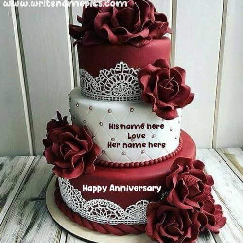 romantic happy anniversary with name edit free