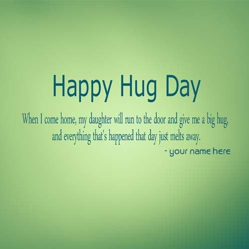 romantic hug day quotes images name edit
