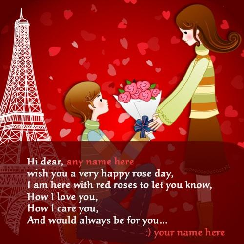 rose day wishes for girlfriend with name editor