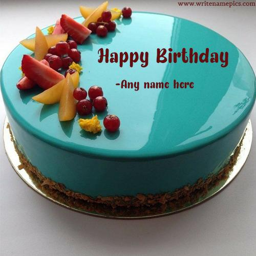 send happy birthday cake image with name