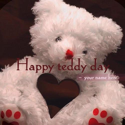 teddy bear day wishes name picture