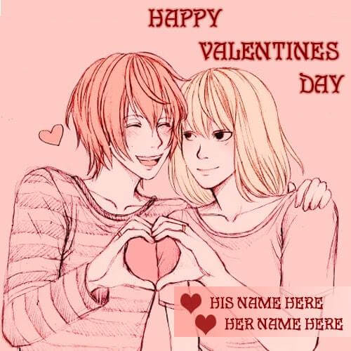 valentines day wishes quotes for his and her name