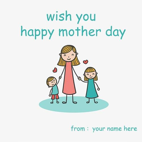 wish you happy mother day picture name editor