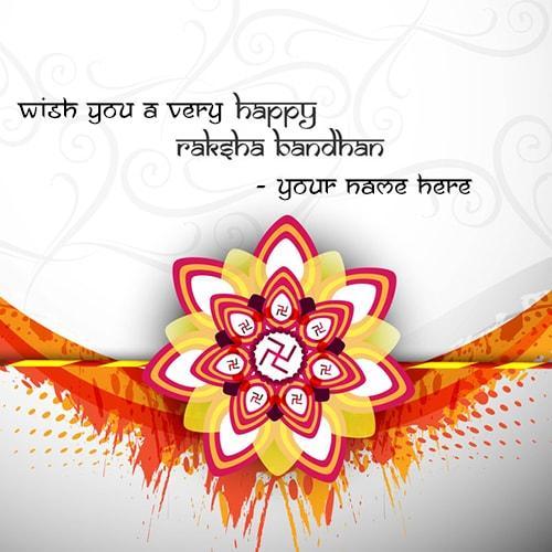 wish you happy raksha bandhan name card