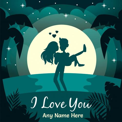 write any name on romantic couple love pic free download