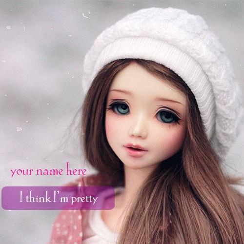 write name cute dolls i think i am pretty greeting cards