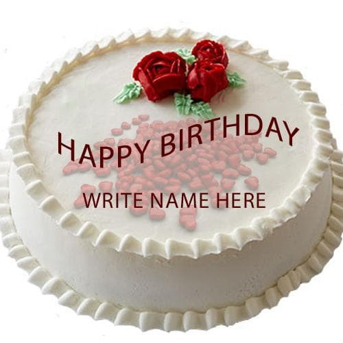 Write Name Love Birthday Cake
