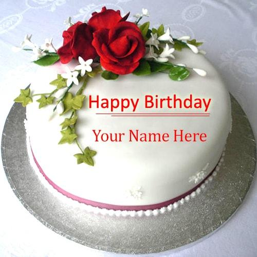 write name on beautiful rose birthday cake images