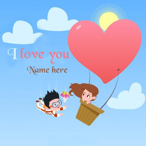 write name on best i love you wishes for girlfriend pic
