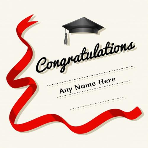write name on complete master degree congratulations cards