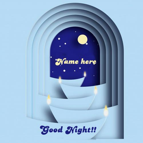 write name on good night wishes for friend pic