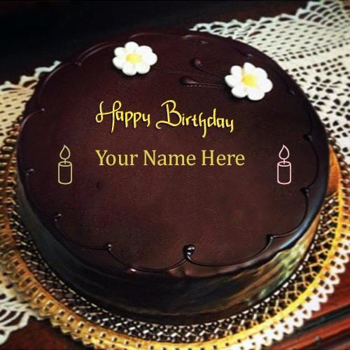 write name on happy birthday chocolate cakes pics