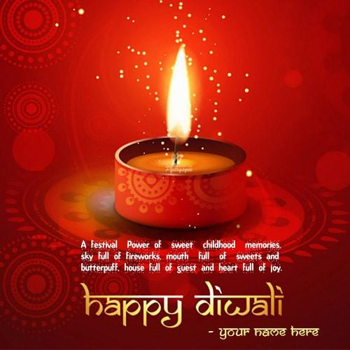 write name on happy diwali wishing quotes