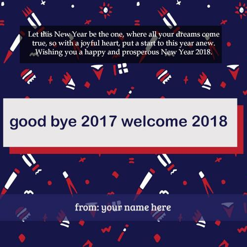 write name on happy new 2018 latest pictures for free