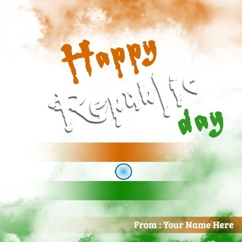 write name on happy republic day images