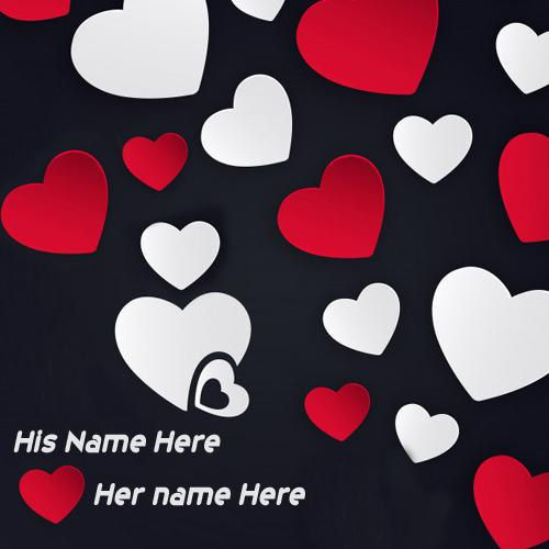 write name on love heart beautiful greeting cards