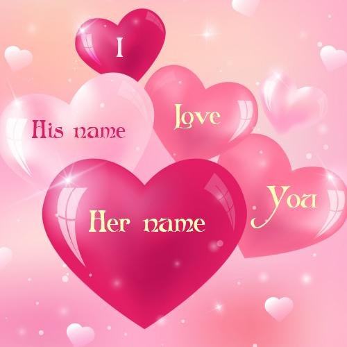 write name on love heart