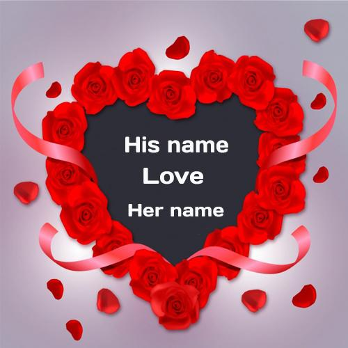 write name on love wishes Rose Greeting Card for lover with name pictures