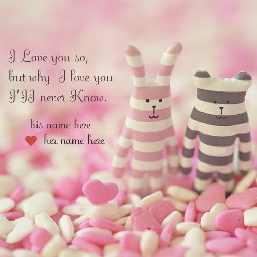 write name on lovely love quotes images for free download