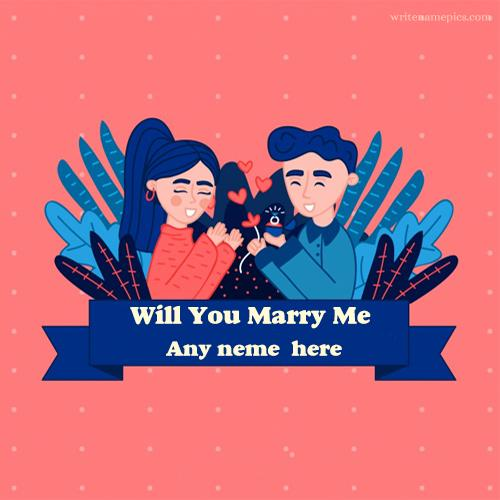write name on will you marry me couple with name pic