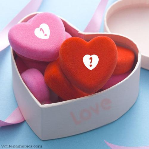 write your alphabet on pink heart images