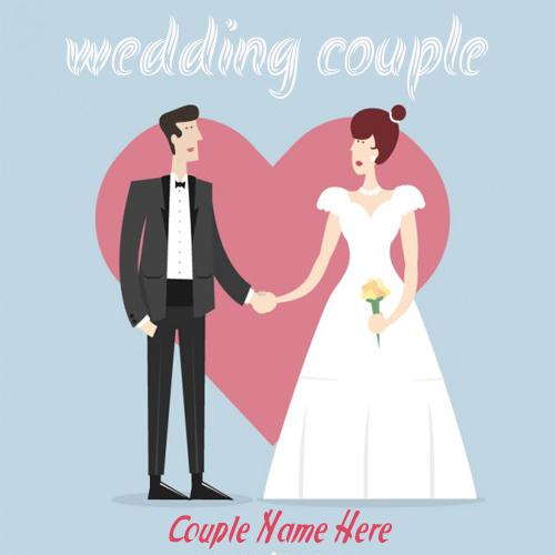 write your couple name on wedding couple image free download